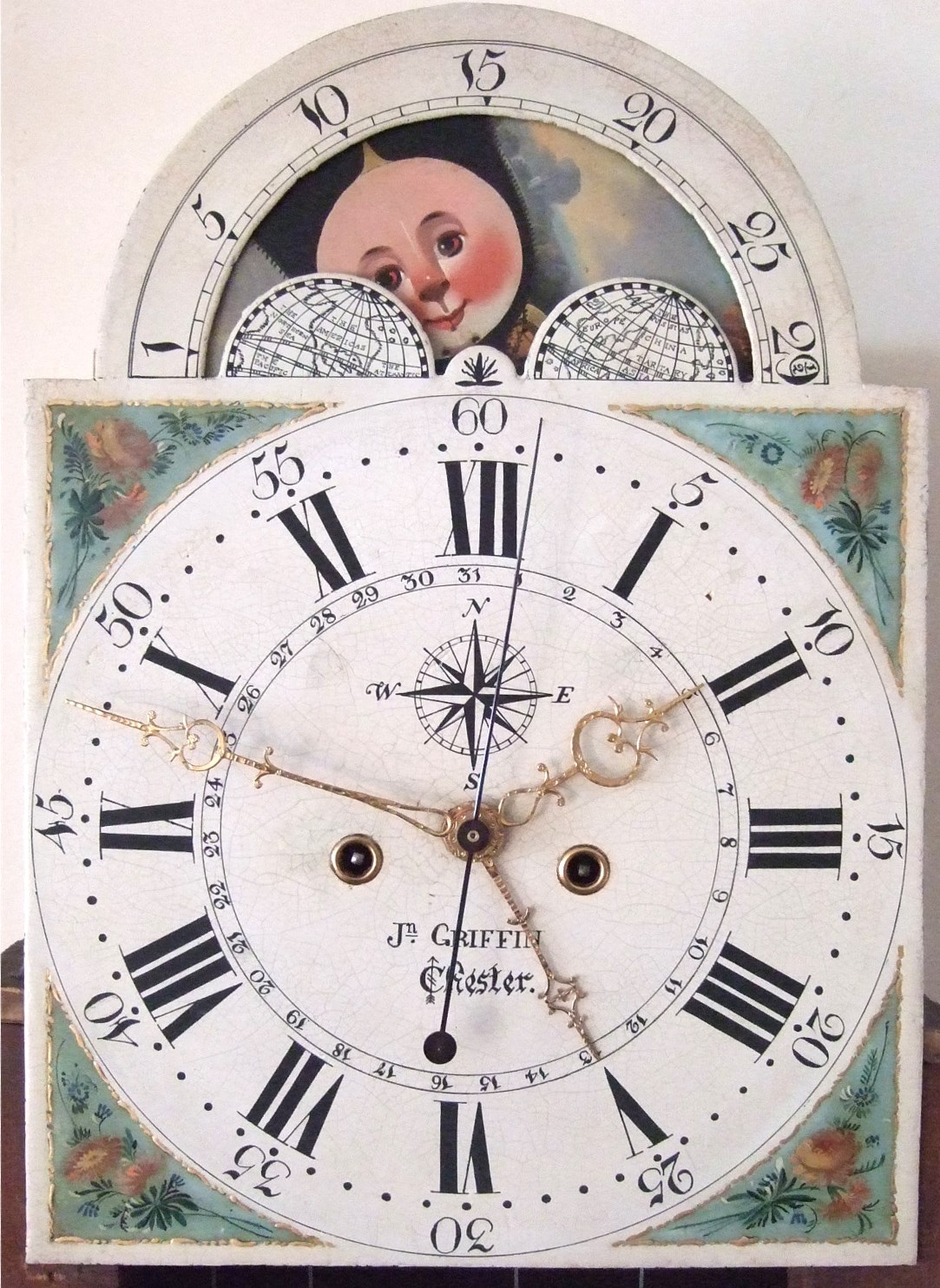 from Otis dating painted dial grandfather clocks